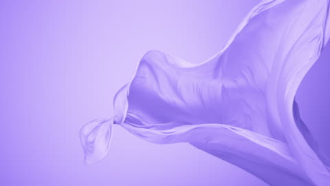 purple silky fabric flowing by wind in purple background, slow motion - silk stock videos & royalty-free footage