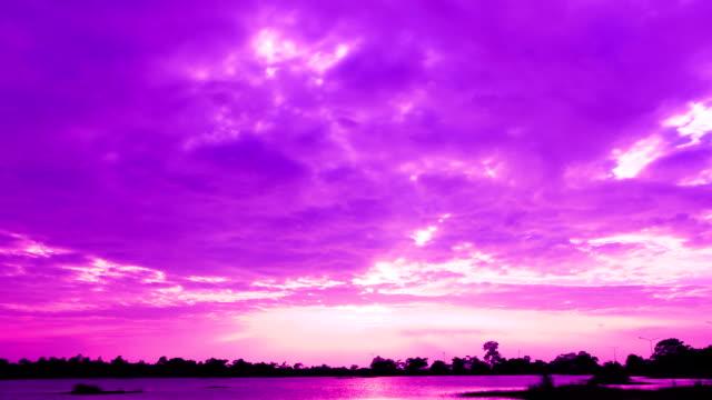 パープルのスカイ - purple点の映像素材/bロール