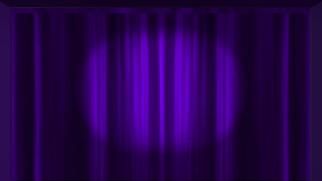 purple theatre curtains opening to reveal an empty space saved with alpha channel - purple stock videos & royalty-free footage