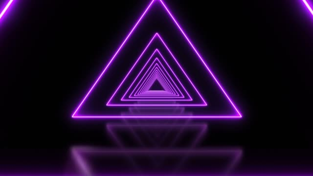 purple triangle abstract looped background tunnel - triangle shape stock videos & royalty-free footage