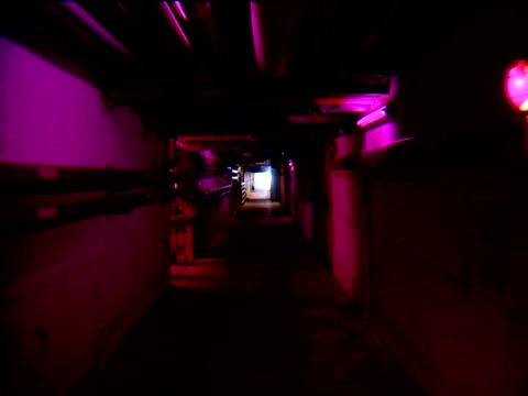 purple tunnel - bomb shelter stock videos & royalty-free footage