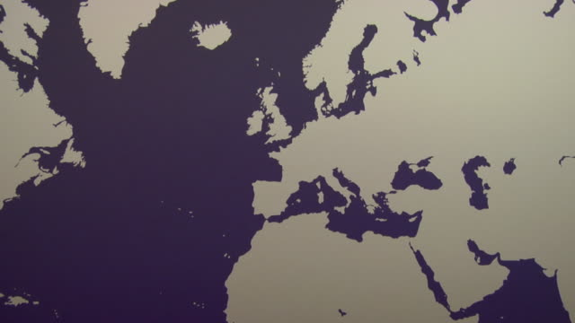 zo, ws, purple world map with silhouettes of continents - world map stock videos & royalty-free footage