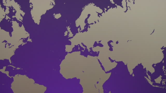 ZO, WS, Purple World map with silhouettes of continents