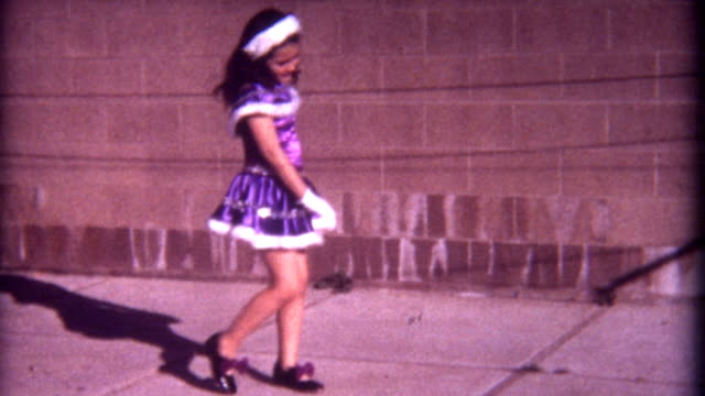 purples dress 1960's - tapping stock videos & royalty-free footage