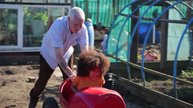 push cart at the allotment - altruism stock videos & royalty-free footage