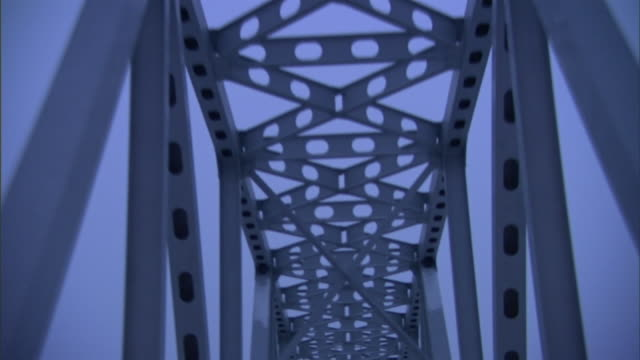 pov push-in - railroad tracks stretch across a truss bridge. / yakutsk, russian federation - train point of view stock videos & royalty-free footage