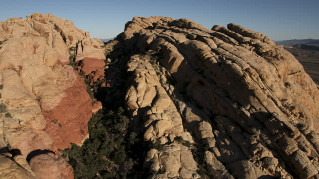push-in shot of the red rock canyon near las vegas - red rocks stock videos and b-roll footage