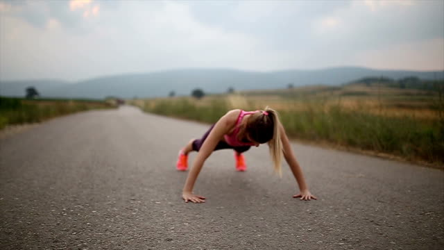 Pushups training in the summer