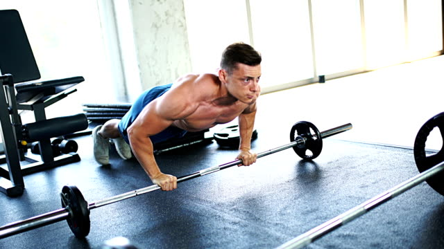 push-ups workout. - muscular contraction stock videos and b-roll footage