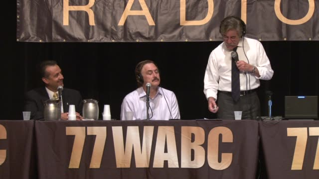 putting america back to work! job fair at the jacob k. javits convention center on may 15, 2012 in new york, new york / geraldo rivera interviews... - 就職フェア点の映像素材/bロール