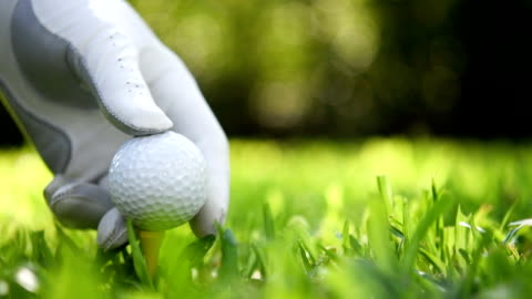 putting golf ball on green grass - putting stock videos & royalty-free footage