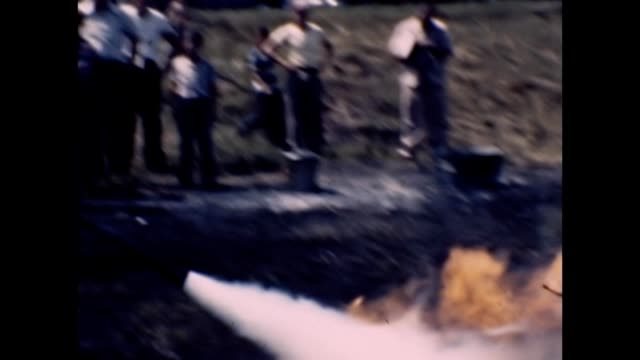 1953 Putting Out Fires With Fire Extinguisher