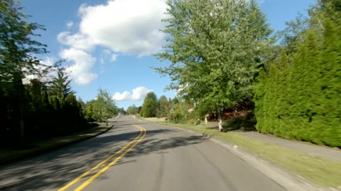 puyallup suburb vi synced series front view driving process plate - pierce county washington state stock videos & royalty-free footage