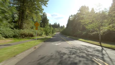 puyallup suburb vi synced series rear view driving process plate - pierce county washington state stock videos & royalty-free footage