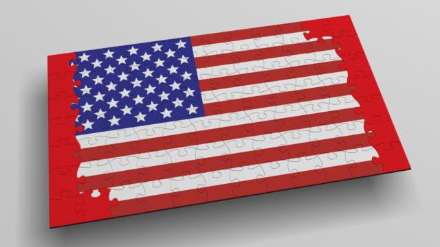 (Loop + Alpha) Puzzle Canada-USA Flags