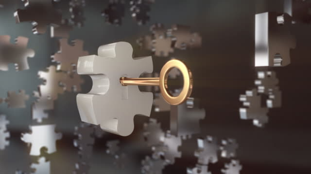 stockvideo's en b-roll-footage met puzzle key - puzzel