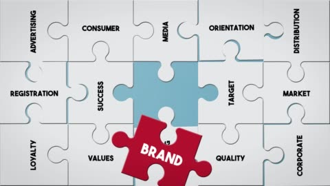 puzzle piece creating brand concept - advertisement stock videos & royalty-free footage