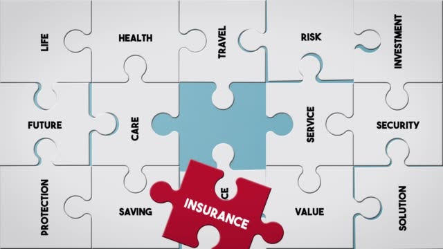 puzzle piece creating insurance concept - investment stock videos & royalty-free footage