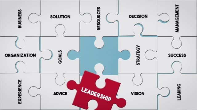 puzzle piece creating leadership concept - human representation stock videos & royalty-free footage