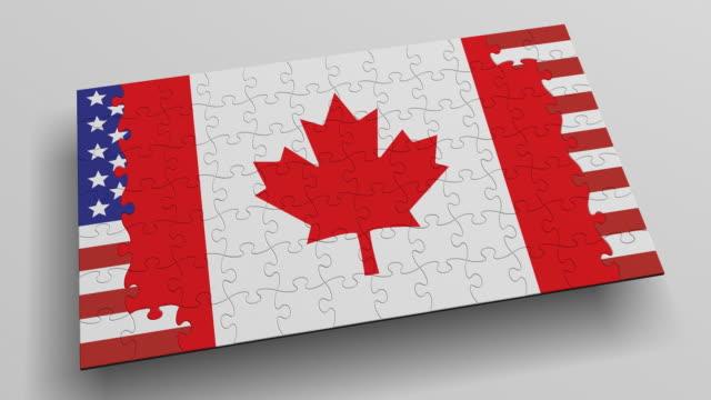 (Loop + Alpha) Puzzle USA-Canada Flags