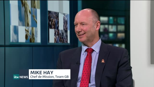 Team GB hopes ENGLAND London GIR INT Mike Hay LIVE STUDIO interview SOT