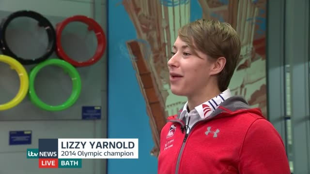 Yarnold prepares to defend title ENGLAND Somerset Bath INT Lizzy Yarnold LIVE interview SOT