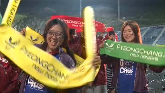 pyeongchang finally achieved their dream of hosting the winter olympics when they were awarded the 2018 edition at their third attempt here on... - südkorea stock-videos und b-roll-filmmaterial