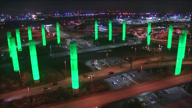 pylons time lapse on earth hour lax turned on the pylon lights on earth hour the evening of march 28 2015 - earth hour stock videos & royalty-free footage