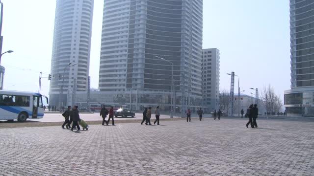pyongyang north korea city views - korea stock videos & royalty-free footage