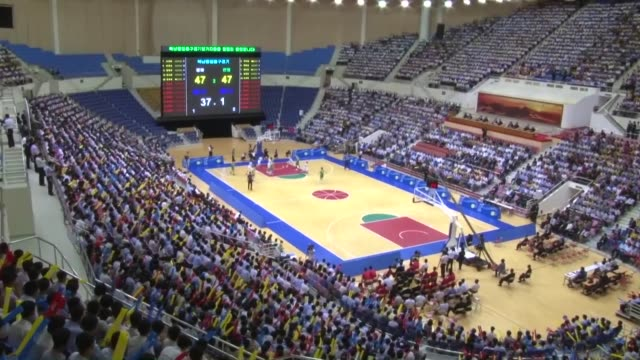 Mixed teams of North and South Korean basketball players had friendly matches in Pyongyang on Wednesday Male and female players each had a match in...