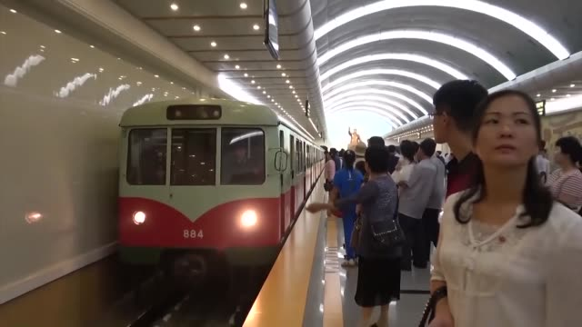 A decadesold subway station in Pyongyang was remodeled recently as part of work to update the capital's subway network which began operating in 1973