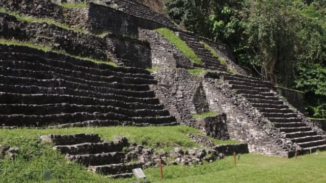 pyramid at palenque mexico - palenque stock-videos und b-roll-filmmaterial