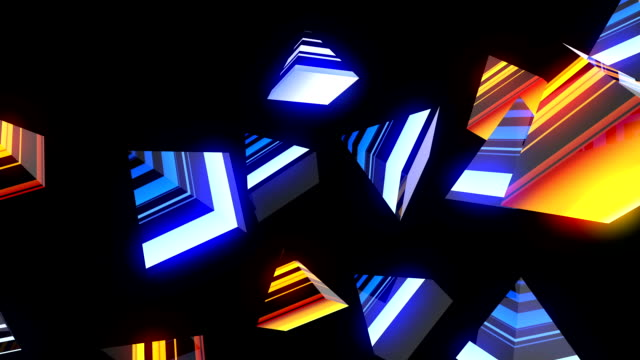 pyramid geometric vj loop - video jockey stock videos & royalty-free footage