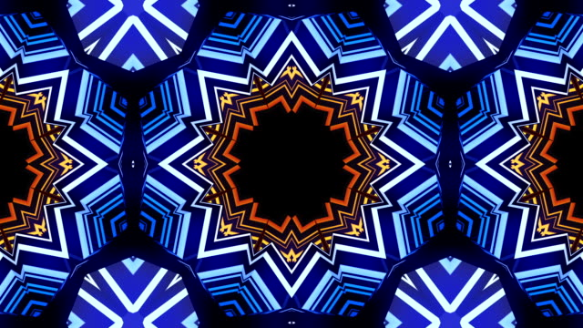 pyramid kaleidoscope vj loop - continuity stock videos and b-roll footage