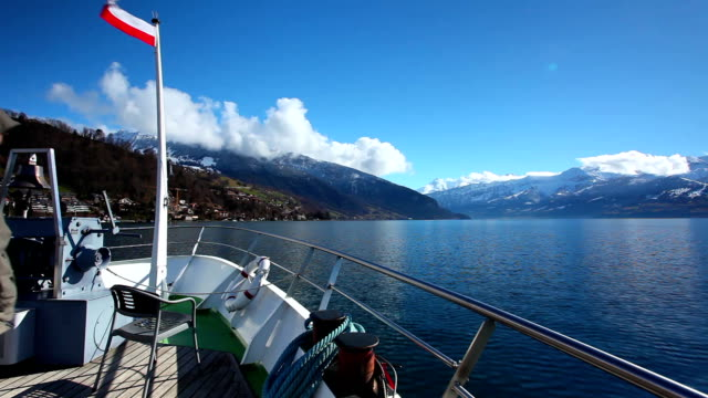 pyramid niesen and thun lake in switzerland - lake thun stock videos and b-roll footage