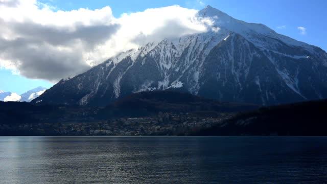 pyramid niesen in switzerland - lake thun stock videos and b-roll footage