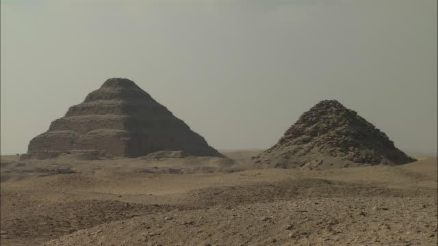 ms, pyramid of djoser, saqqara, egypt - saqqara stock videos and b-roll footage