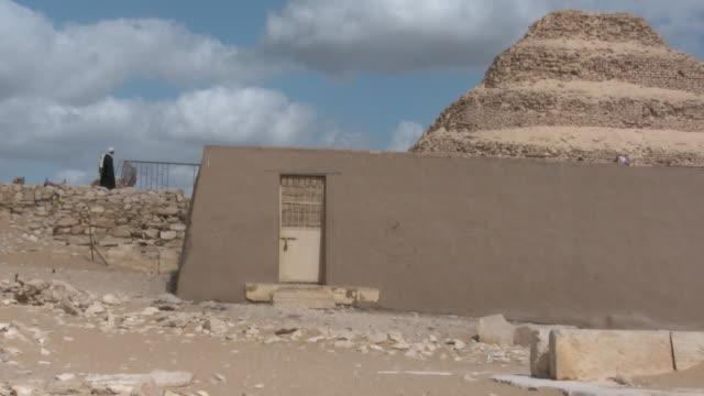 zo, ws, pyramid of djoser, saqqara, egypt - saqqara stock videos and b-roll footage