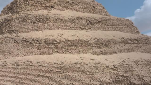 cu, zo, ms, pyramid of djoser, saqqara, egypt - saqqara stock videos and b-roll footage