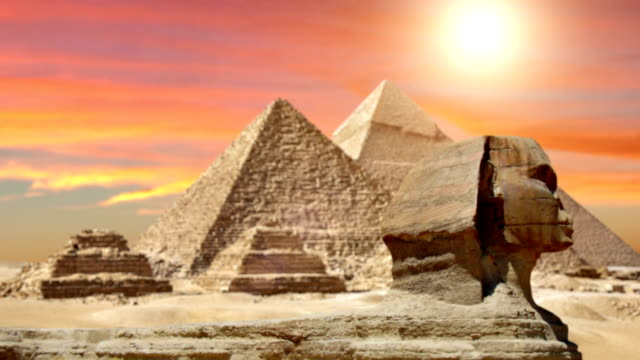 pyramids and the sphinx - pyramid stock videos and b-roll footage