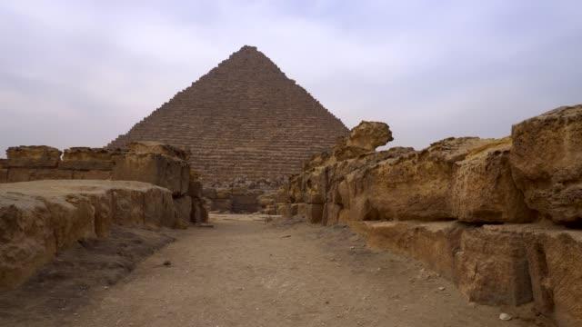 pyramids in giza, egypt. - pyramid stock videos & royalty-free footage