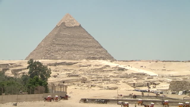 pyramids of giza - egypt stock videos & royalty-free footage