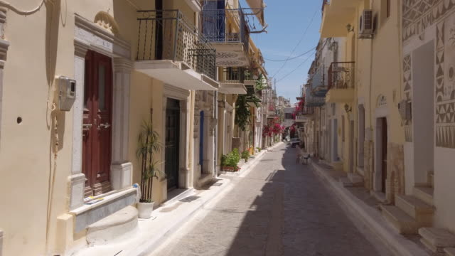 pyrgi, chios island, greece - greek islands stock videos and b-roll footage