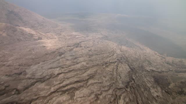 pyroclastic flow on montserrat island with steam. - pyroklastischer strom stock-videos und b-roll-filmmaterial
