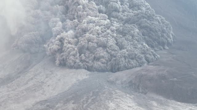 pyroclastic flow volcanic eruption at mount sinabung - erupting stock videos and b-roll footage