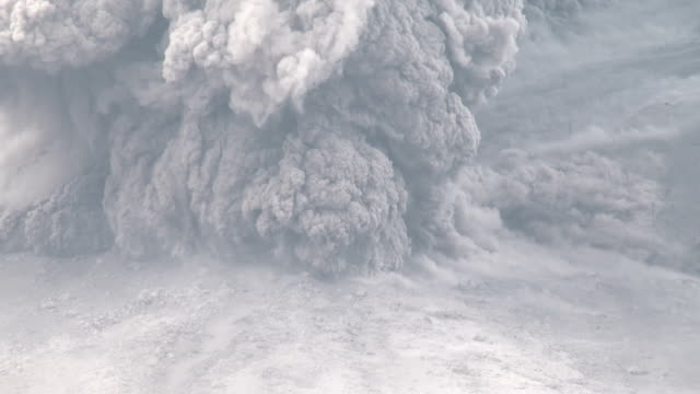 pyroclastic flow volcanic eruption at mount sinabung - ash stock videos & royalty-free footage