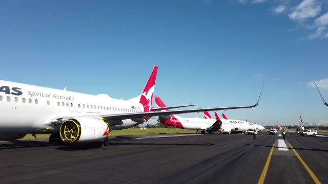 AUS: Sydney Runway Turned Into Aircraft Parking Lot Due To Coronavirus Travel Restrictions