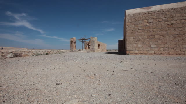 qasr amra is the best-known of the desert castles located in present-day eastern jordan. - stationary process plate stock videos & royalty-free footage