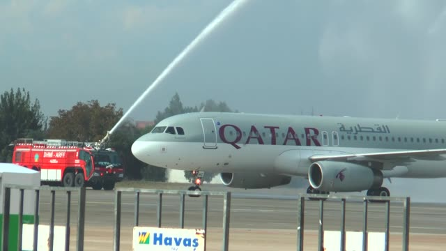 Qatar Airways launches its flight operations from Doha to Turkey's Mediterranean province of Adana as its first aircraft lands at Adana Sakirpasa...