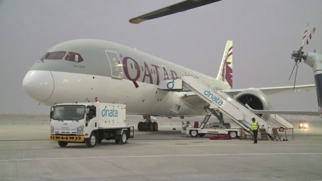 qatar airways said sunday that it ordered five a330 freighters from airbus valued at about $1 billion according to list prices and also announces the... - letter x stock videos & royalty-free footage
